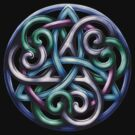 Celtic Triskele Knotwork  by Brigid Ashwood