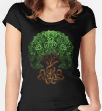 Celtic Tree of Life Knotwork Women's Fitted Scoop T-Shirt