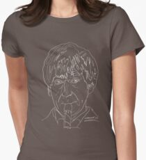 Patrick Troughton - 2nd Doctor (white) Womens Fitted T-Shirt