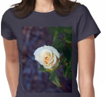 Light yellow rose Womens Fitted T-Shirt