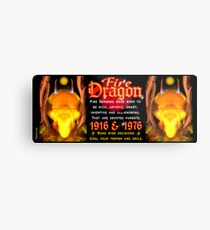 1976 2036 Chinese zodiac born in year of Fire Dragon  Metal Print