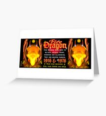 1976 2036 Chinese zodiac born in year of Fire Dragon  Greeting Card