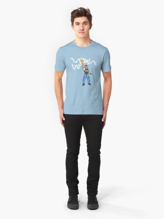 Alternate view of Poké-MAN: I HAVE THE PIKAAAAAAAA! Slim Fit T-Shirt