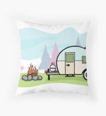Retro camper Throw Pillow