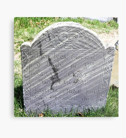 Gravestone on Old Burial Hill Metal Print
