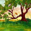 girl in tree by Gian
