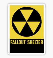 Fallout Shelter Sign Sticker