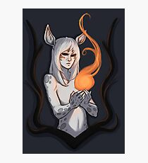 White Faun Photographic Print