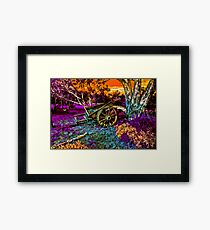 Once Upon A Cart Framed Print
