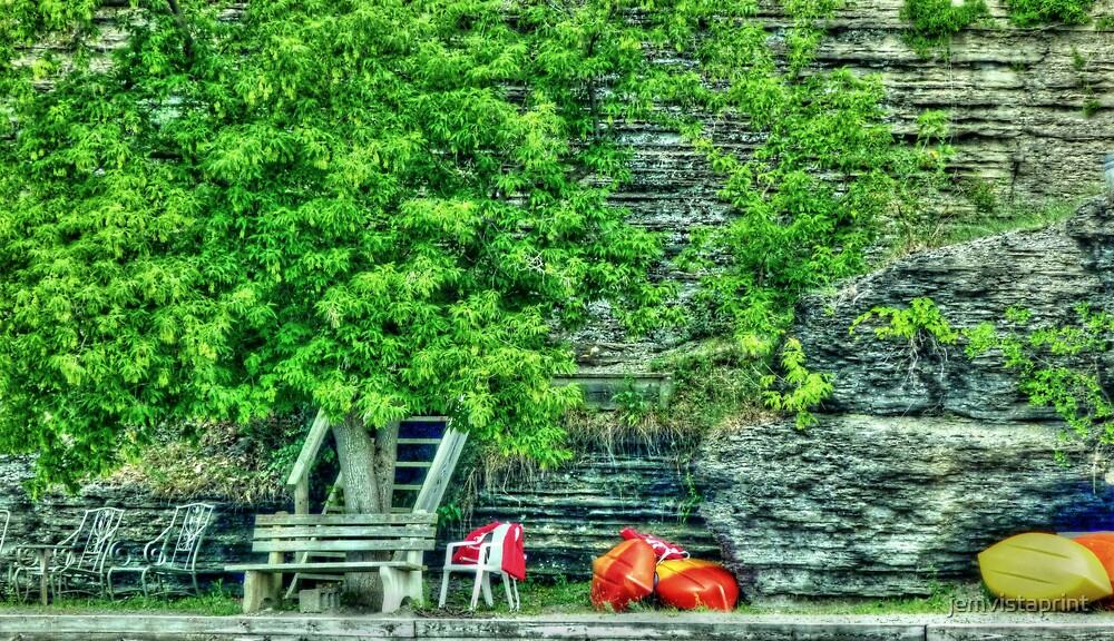 Canoes on the Shore HDR by jemvistaprint