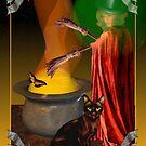 black cat,bat, Halloween, card,valxart  by Valxart
