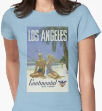 Vintage poster - Los Angeles Womens Fitted T-Shirt