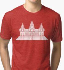 Angkor Wat / Khmer / Cambodian Flag Tri-blend T-Shirt
