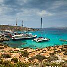 The Blue Lagoon, Comino, Malta by Gabor Pozsgai