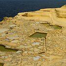 Salt pans on Gozo Island, Malta by Gabor Pozsgai