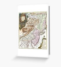 New England Ancient Map (1756) Greeting Card