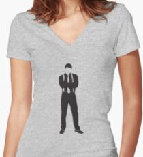 Booth Women's Fitted V-Neck T-Shirt