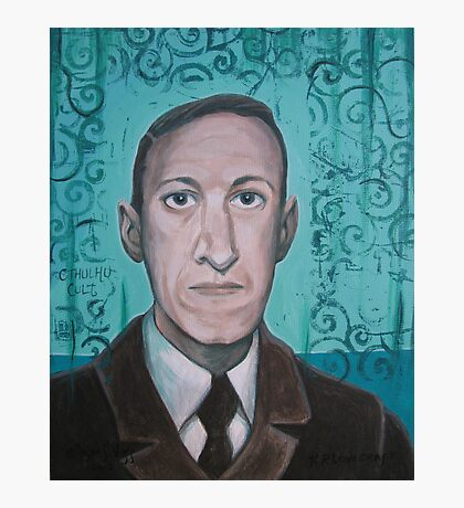 HP Lovecraft second portrait Photographic Print