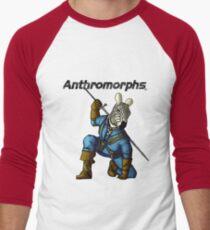 Anthromorphs Zebra Men's Baseball ¾ T-Shirt