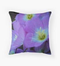 FL87 Delicate pale flowers  Throw Pillow