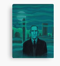 HP Lovecraft the explorer Canvas Print