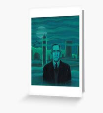 HP Lovecraft the explorer Greeting Card