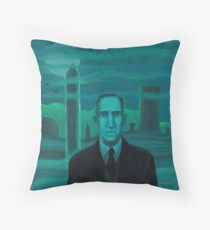 HP Lovecraft the explorer Throw Pillow