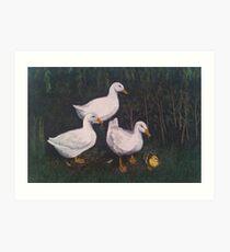 Babysitting Ducks Art Print