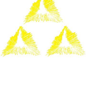 Pen Scribble Triforce  by MinikinQP