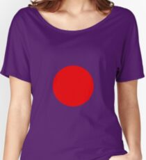 Circle Red Women's Relaxed Fit T-Shirt