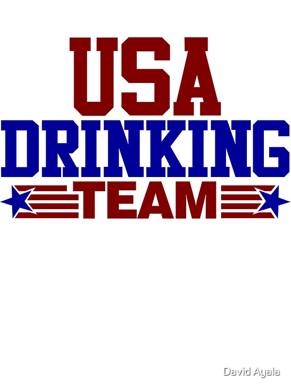 Quot Usa Drinking Team Quot Stickers By David Ayala Redbubble