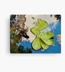 Lily Pad Frogger Canvas Print