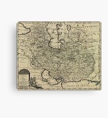Persia Ancient Map 1747 Canvas Print