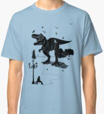 Playtime Dinosaur- Black Classic T-Shirt