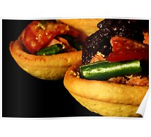 Tuna, Green Bean & Tomato Tartlets with Black Olive Tapenade Poster