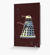Vintage Look Doctor Who Dalek Graphic Greeting Card