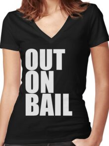Out on Bail Women's Fitted V-Neck T-Shirt