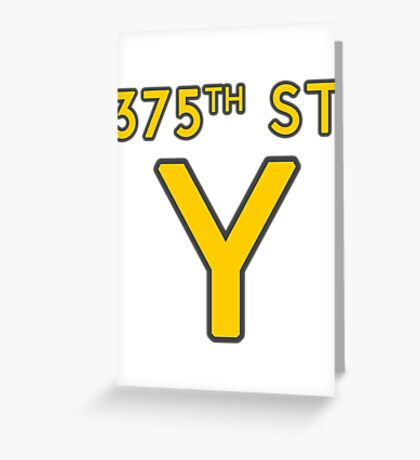 375th Street Y - Royal Tenenbaums Tshirt Greeting Card