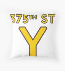 375th Street Y - Royal Tenenbaums Tshirt Throw Pillow