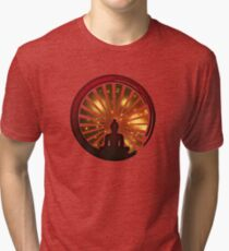 Enso Zen Circle, Meditation, Buddha, Buddhism, Japan, Sun Tri-blend T-Shirt