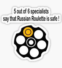 Russian Roulette Sticker