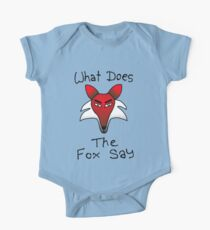What Does The Fox Say (purple) One Piece - Short Sleeve