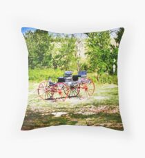Vintage Buggy Throw Pillow