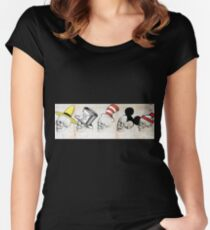 Skulls with hats Women's Fitted Scoop T-Shirt