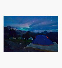 Northern Lights at basecamp Photographic Print