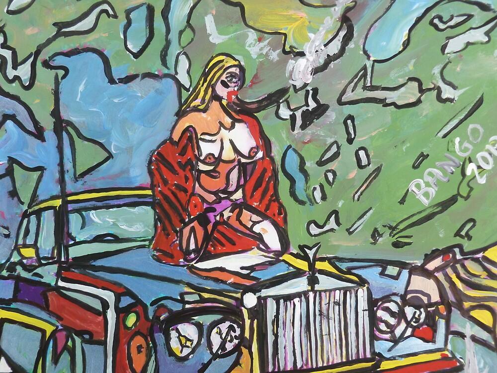 Nude on Rolls bonnet by BBBango