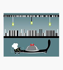 Cook cat. Funny cartoon and vector character Photographic Print