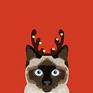 Reindeer Costume for cat cute gift idea for office party cat person in your life by PetFriendly