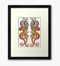 Mono Octopus (duo) #1 Framed Print