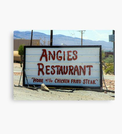 Angie's Restaurant In Fort Hancock...We Should've Stopped Metal Print